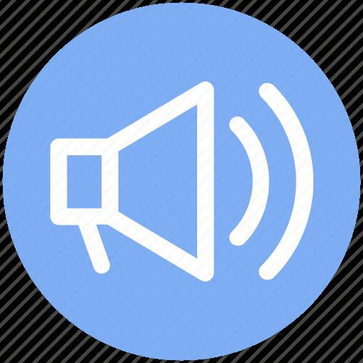 announcement, loudspeaker, megaphone, speaker, volume icon