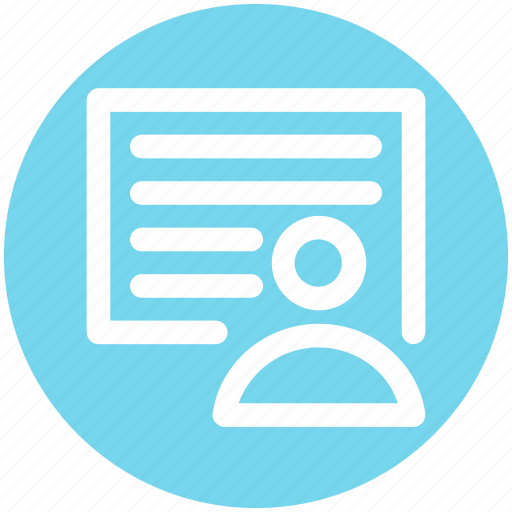 Avatar, document, human, page, paper, user icon - Download on Iconfinder