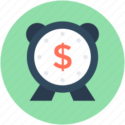 business timer, clock, dollar, time, timer icon
