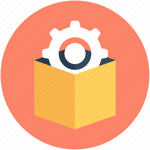 box, box preferences, cog, package, parcel icon