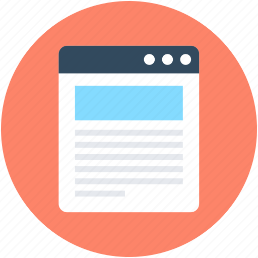 Article, article screen, blog, blog article, online article icon - Download on Iconfinder