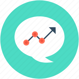 business growth, graph, graph bubble, growth chart, progress chart icon