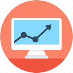 diagram, line chart, online analytics, online graph, online infographics icon