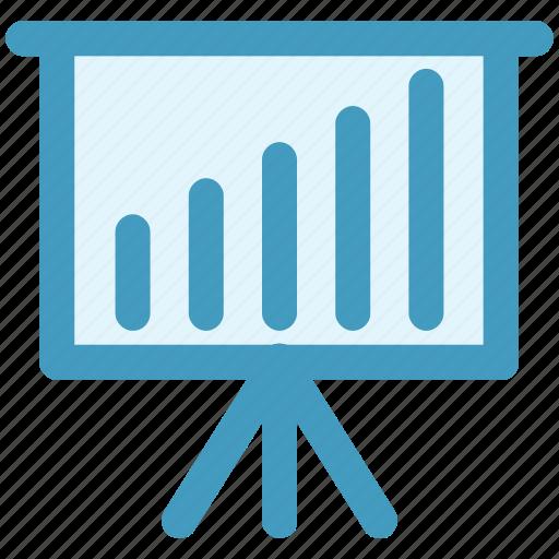 business graph, business presentation, graph, graph board, graph presentation, presentation board icon
