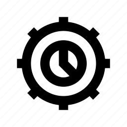 circular chart, cogwheel, diagram, pie chart, pie graph icon