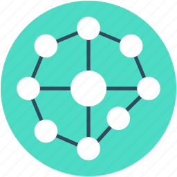 atom, electron, hexagons, molecule, science icon