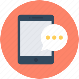 chat bubble, communication, mobile, mobile massage, sms icon