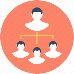 leader, management, manager, organization structure, team icon