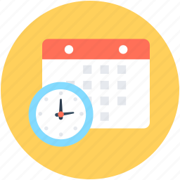 project time, schedule, time, timeframe, timetable icon