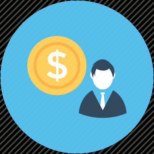 accountant, businessman, businessperson, dollar, financial hierarchy icon
