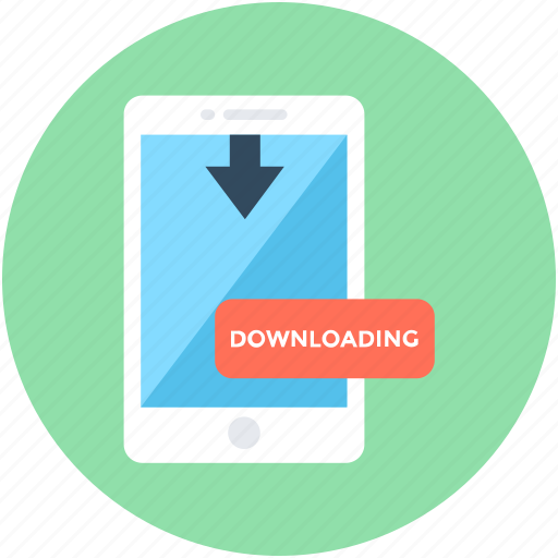 attachment, download data, mobile, mobile downloading, upload arrow icon