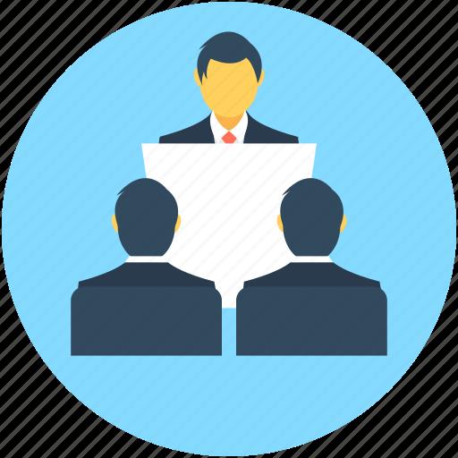 communication, lecture, male, presentation, public speaker icon