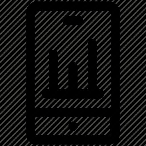 .svg, analysis, analytics, business phone, graph, mobile, mobile graph icon