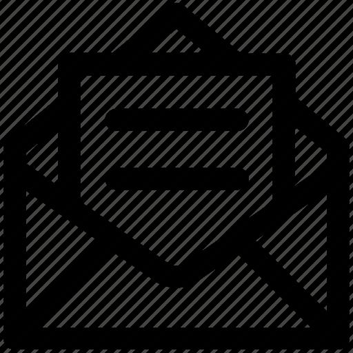 .svg, envelope, letter, mail, message, open letter icon