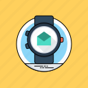 creativity, online business concept, smartwatch, success symbol, work smart icon