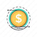 business profit, cash flow, earnings, revenue, revenue chart icon