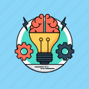 brainstorm, creative brain, creative thinking, intelligence, thinking process icon