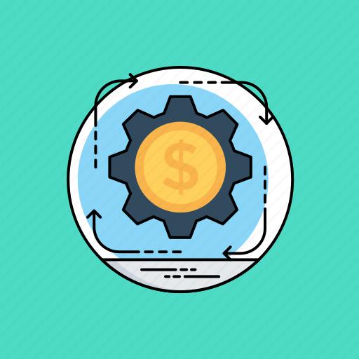 business return, financial benefit, income, project revenue, revenue and profit icon