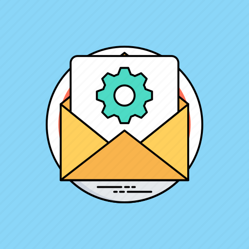 business communication, business mailing, project letter, project mail, project message icon