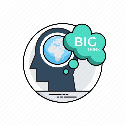 big idea, creative idea, dream big, think big, think different icon