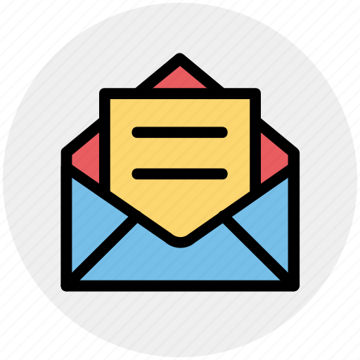 Envelope, letter, mail, message, open letter icon - Download on Iconfinder