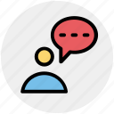 chat, contact, male, man, message, text icon