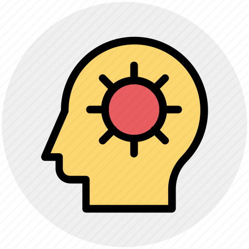 Brain gear, brainstorming, gear, head, head gear, strategy icon - Download on Iconfinder
