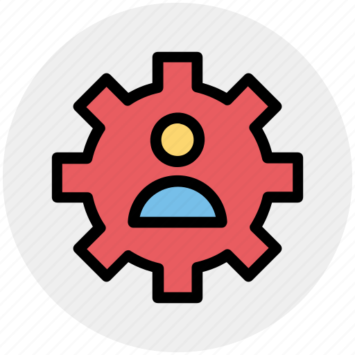 Cog, gear, management, online, user, work icon - Download on Iconfinder