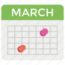 calendar, event, meeting, schedule, timetable icon