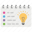 my goals, project idea, project layout, project management, project planning icon