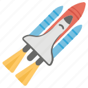 missile, rocket, spacecraft, spaceship, startup icon