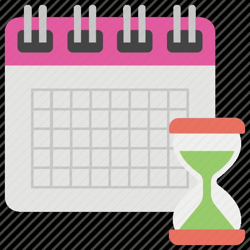 calendar, deadline, hourglass, schedule, work management icon
