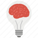 brainstorming, creative thinking, innovative brain, innovative idea, solution icon