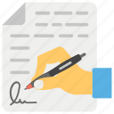 accord, agreement, contract, legal document, signing contract