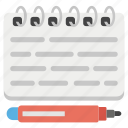 agenda, notepad, notes, planning, task icon