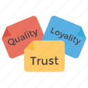 business slogan, loyalty, quality, trademark, trust icon