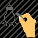 creative idea, idea development, idea generation, innovative idea, unique idea icon