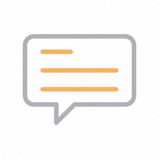 bubble, chat, message, speech, text icon