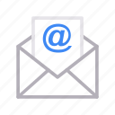 email, envelope, inbox, message, open icon