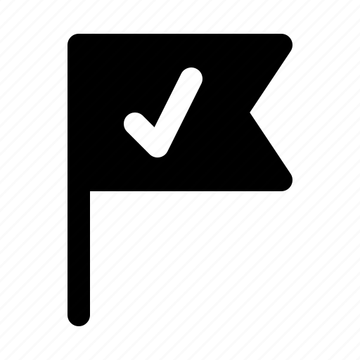 business, check, flag, management, milestone, office, project icon