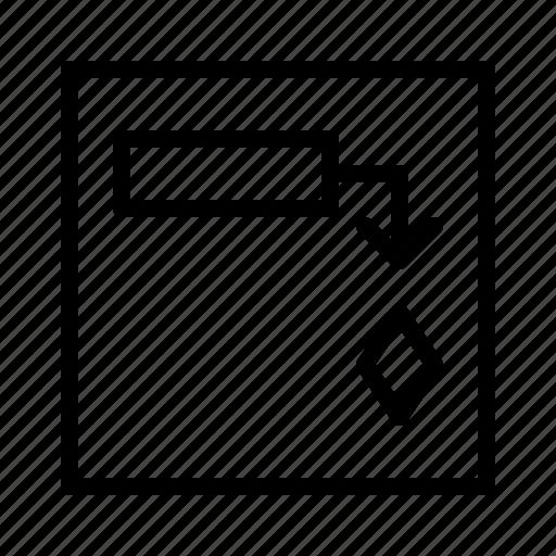 business chart gantt management milestone office project icon