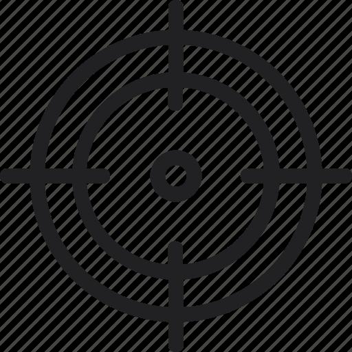 aim, arrow, bullseye, crossair, goal, target icon icon