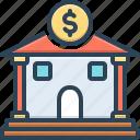 bank, corporate, emolument, money dealing, money lending, revenues, saving