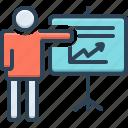 activity, chart, presentation, project, task, venture, whiteboard