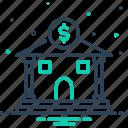 bank, corporate, dealing, emolument, money lending, revenues, saving icon