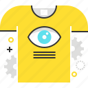 eye, marketing, promote, shirt, t-shirt printing icon