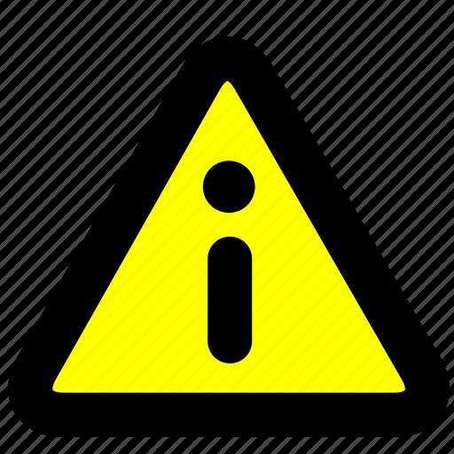 alert, information, prompt, warning icon