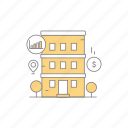 building, business, property, property business icon