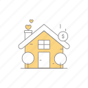 building, business, home, house, property, property business icon