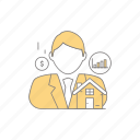 agent, business, man, people, property, property agent, property business